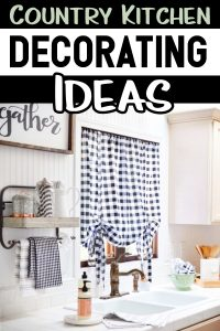 Country style kitchen decor ideas for a DIY country kitchen {PICTURES} These country kitchen decor ideas are the best on Pinterest - we love them ALL (especially the black and white buffalo check country kitchen decorating ideas!) PinUp ST1222019 If you love Pinterest country kitchens, you will love these country farmhouse kitchen designs!