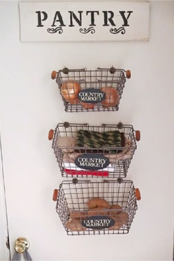 wall baskets - hanging wall baskets for kitchen storage
