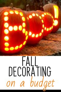 Decorating for Fall on a Budget - cheap DIY decorating ideas for Fall / Autumn (cute Thanksgiving and Halloween ideas too)