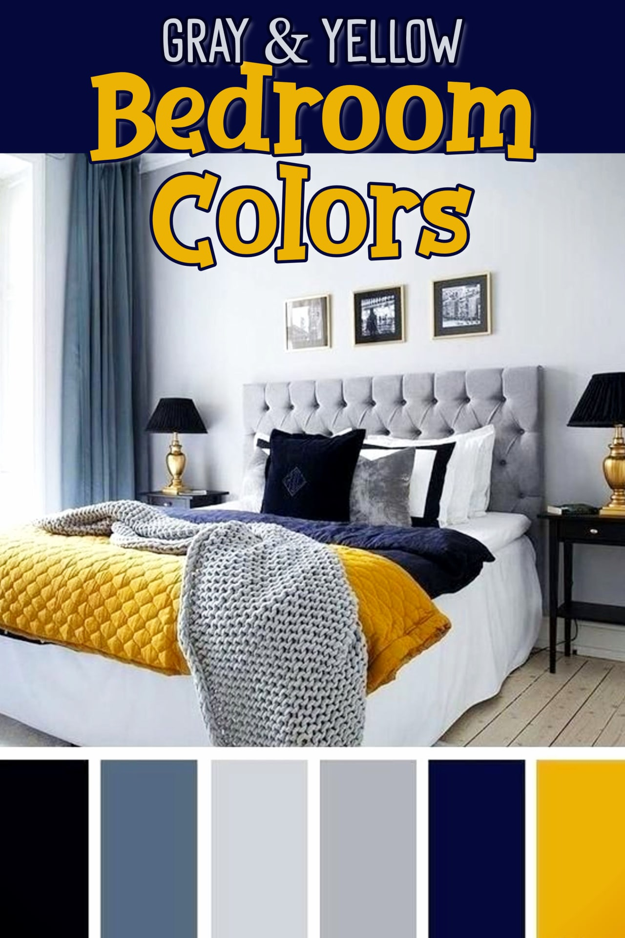 Bedroom Accent Colors For A Gray And Yellow Blue