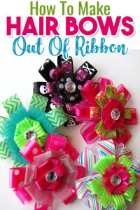 How to make hair bows out of ribbon - make hair bows for babies, toddler and all little girls AND big girls