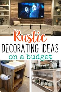 DIY Rustic Decorating Ideas on a Budget - Rustic Living Room Decor Ideas, easy DIY ideas for kitchens, bedrooms, bathrooms and other small spaces. Cheap and easy shabby chic farmhouse style rustic decor ideas in beautiful vintage style