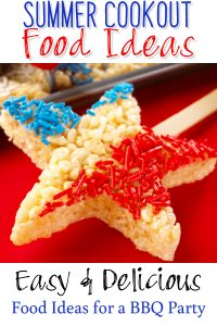 Food Ideas for a BBQ Party - these summer cookout foods are easy and delicious. Great fora 4th of July party too