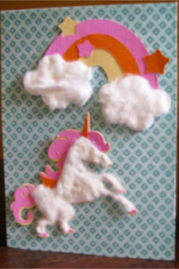 Unicorn Art Projects - Make a unicorn craft with paper and cotton balls - lots more unicorn craft ideas for kids