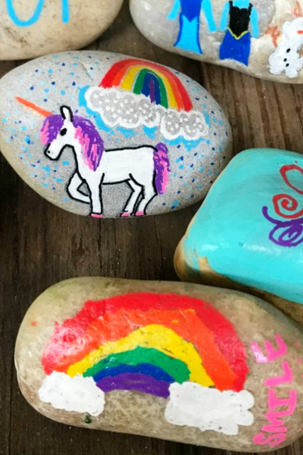 Unicorn Craft Ideas! Painted rocks, paper crafts and more unicorn crafts for kids to make