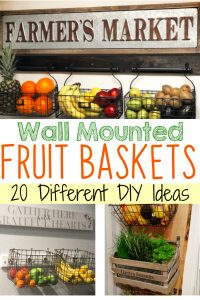 wall mounted fruit basket DIY ideas, PICTURES and tutorial to make a wall mounted fruit and vegetable basket for your kitchen wall