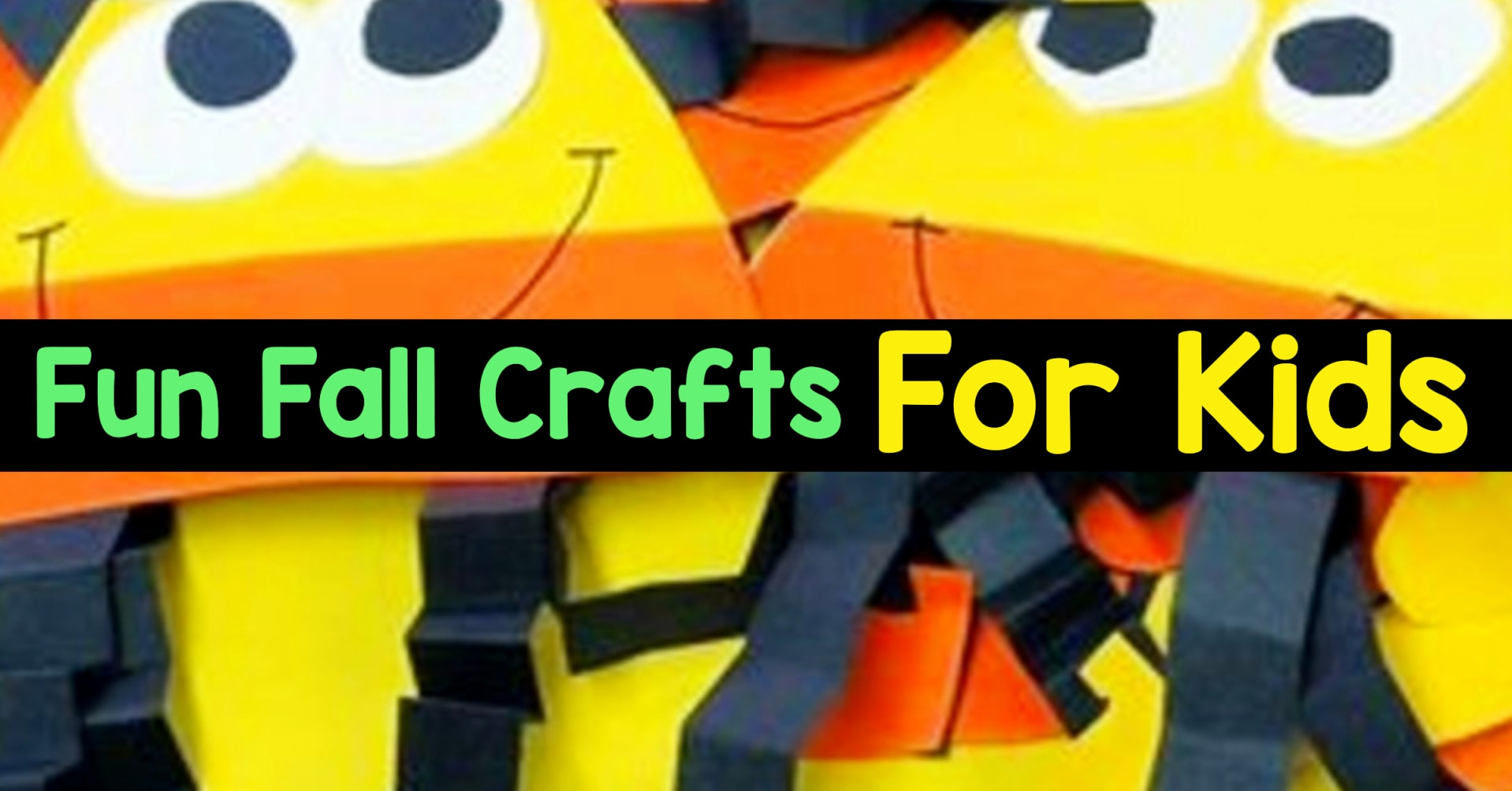 Fall Crafts - Fun & Easy Fall Crafts For Kids To Make - Cute and Easy DIY Kids Fall Crafts To Make at Preschool, Pre-K, Sunday School Or a Fun Craft Project At Home