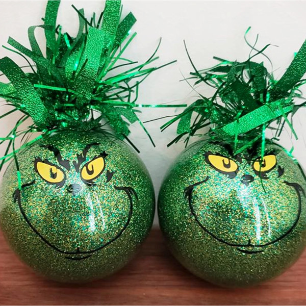 Handmade Grinch Christmas Ornaments - DIY Grinch Decorations and Christmas Ornaments