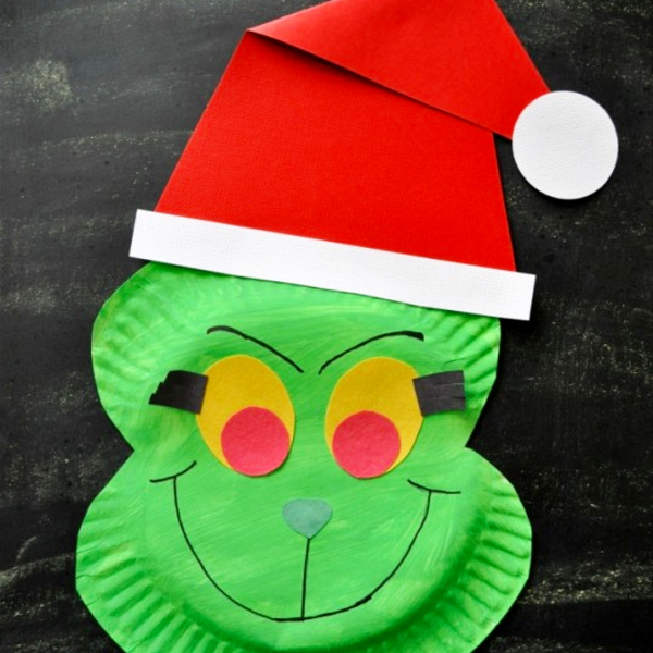 Grinch Christmas crafts for kids - DIY Grinch Decorations and Christmas Ornaments