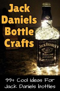 Jack Daniel's Craft ideas - cool DIY ideas for empty Jack Daniels whiskey bottles