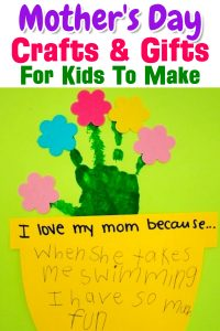 Mothers Day Crafts and Gifts for Kids To Make For Mom - Easy DIY Mother's Day Crafts, handmade gifts, arts and craft projects for kids, preschool, toddlers, PreK, Sunday School, Daycare and more. Easy gifts for kids to make for mom.