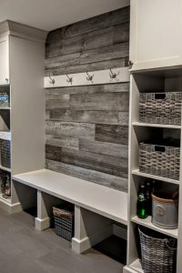 Mudroom Ideas and Mudroom Entryway Ideas (in farmhouse style) ST1202019 DIY mudroom designs for your laundry area, entryway, garage, closet, and more. Rustic farmhouse mud rooms and small mud room ideas. Mud room furniture, entryway bench DIY w/ storage for small spaces, breezeway ideas and mudroom ideas entryway, foyer or out room. Love the pallet wall!