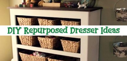 How To Repurpose a Dresser Without Drawers – 9 DIY Repurposed Dressers Makeover Ideas