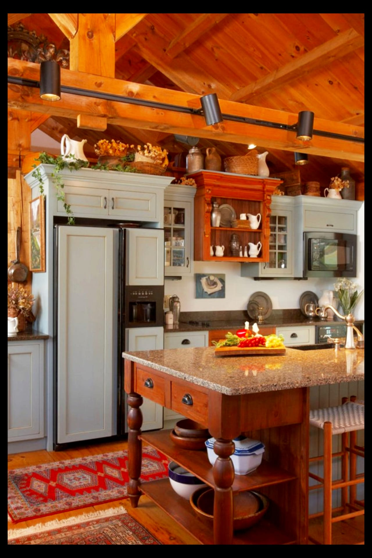 Farmhouse Kitchen Ideas & PICTURES of Country Farmhouse ... on Farmhouse Rustic Kitchen Ideas  id=19904