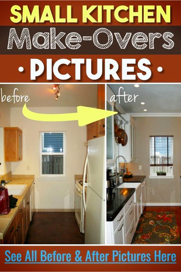 Small Kitchen Ideas – Before & After Remodel Pictures of Tiny Kitchens