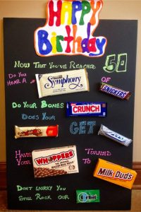 Candy poster birthday card ideas to make