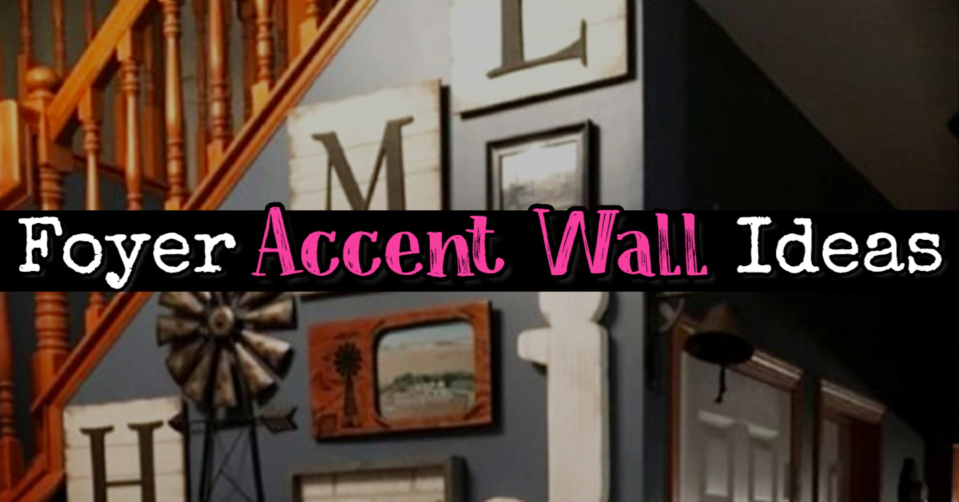 Foyer Accent Wall Ideas - Easy DIY decorating ideas for entry hall wall PICTURES and foyer decor inspiration to copy!
