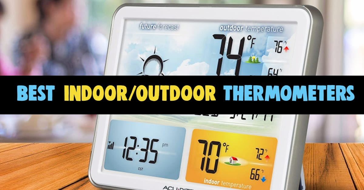 Wireless Indoor Outdoor Thermometer Reviews - best consumer reports indoor-outdoor thermometers for smart home use. Which is the best wireless digital indoor outdoor thermometer that is the most accurate for reading inside and outside temperatures - good quality & best rated indoor outdoor weather stations and atomic clocks to gauge weather forecasts. Accurate digital room thermometer for indoor and outdoor temperatures and to alert to bad weather